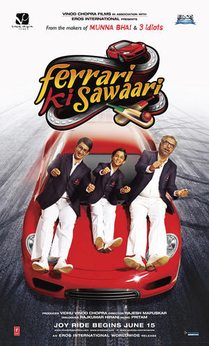 "Poster art for ""Ferrari Ki Sawaari."""