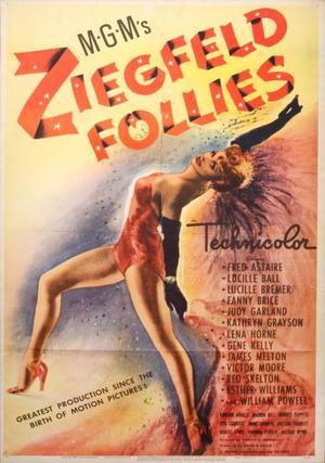 """Poster art for """"Ziegfeld Follies."""""""