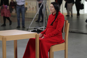 "Marina Abramovic in ""Marina Abramovic: The Artist Is Present."""