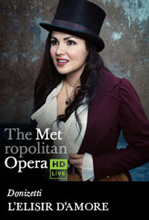 "Poster art for ""The Metropolitan Opera: L'Elisir d'Amore."""