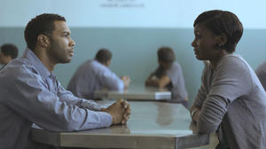 "Omari Hardwick as Derek and Emayatzy Corinealdi as Ruby in ""Middle of Nowhere."""
