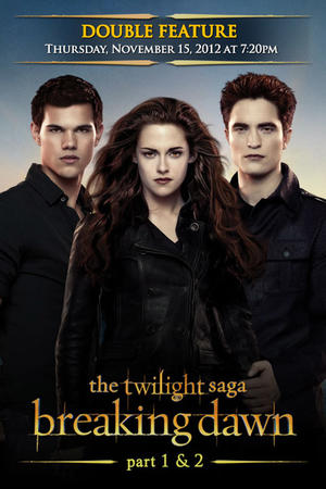 "Poster art for ""The Twilight Saga Double Feature."""