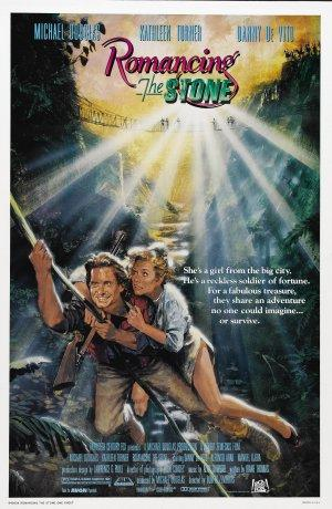 "Poster art for ""Romancing the Stone."""