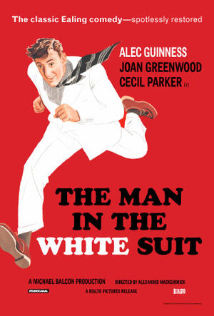 """Poster art for """"The Man In The White Suit."""""""