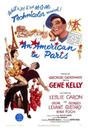 "Poster art for ""An American in Paris."""