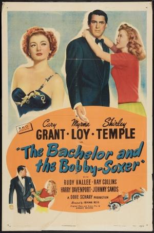 "Poster art for ""The Bachelor and the Bobby-Soxer."""