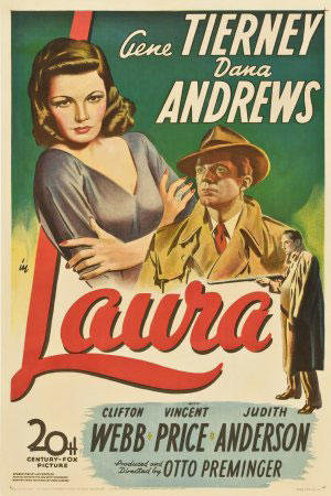 "Poster art for ""Laura."""
