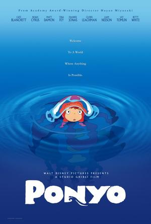 "Poster art for ""Ponyo."""