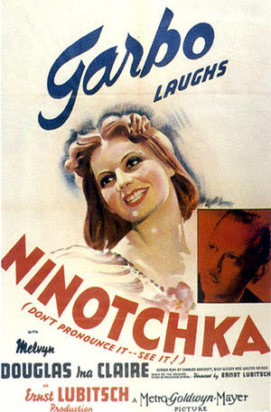 "Poster art for ""Ninotchka."""