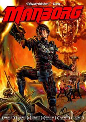 "Poster art for ""Manborg."""