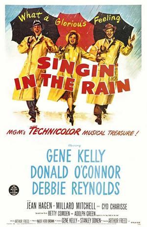 "Poster art for ""Singin' in the Rain."""