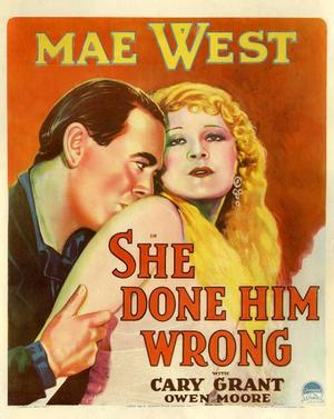 "Poster art for ""She Done Him Wrong."""