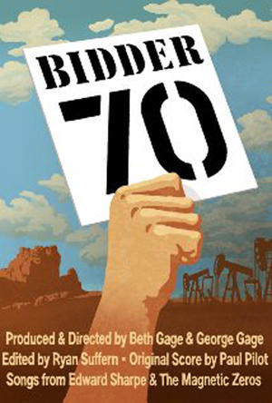 "Poster art for ""Bidder 70."""