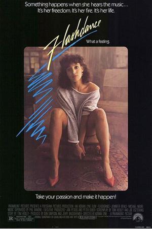"""Poster art for """"Flashdance."""""""