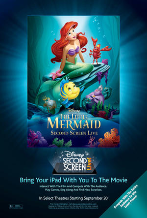 "Poster art for ""The Little Mermaid Second Screen Live!"""