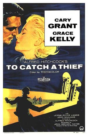 """Poster art for """"To Catch A Thief."""""""