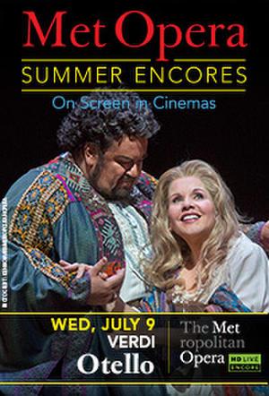 """Poster art for """"Met Summer Encore - Otello."""""""