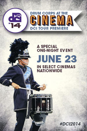 "Poster art for ""DCI Tour Premiere 2014."""