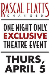 Rascal Flatts: Changed showtimes and tickets