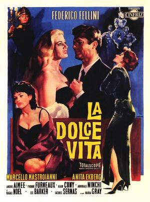 "Poster art for ""La Dolce Vita."""