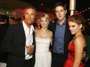 """""""We Are Marshall"""" stars Matthew McConaughey, January Jones, Matthew Fox and Kate Mara at the afterparty for the film's Hollywood premiere."""