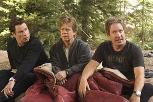 "John Travolta, William H. Macy and Tim Allen in ""Wild Hogs."""