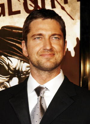 """""""300"""" star Gerard Butler at the L.A. premiere."""