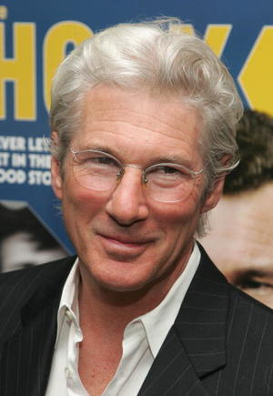 """""""The Hoax"""" star Richard Gere at the N.Y. premiere."""