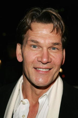 """""""Dirty Dancing"""" star Patrick Swayze at the Hallmark Channel's TCA Press Tour party in L.A."""