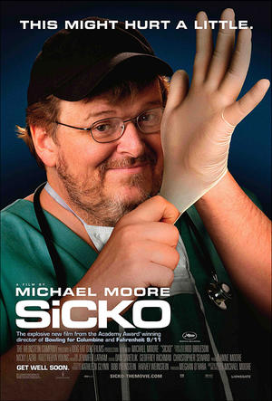 "Poster art for ""Sicko."""