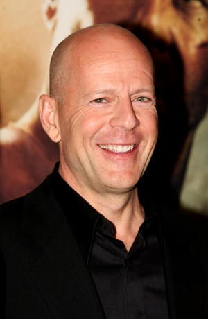 """Live Free or Die Hard"" star Bruce Willis at the London premiere."