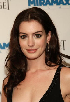 """Becoming Jane"" star Anne Hathaway at the N.Y. premiere."