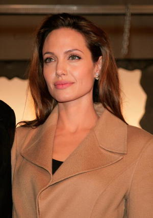 "Actress Angelina Jolie at the L.A. premiere of ""Beowulf."""