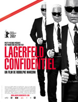 """Poster art for """"Lagerfeld Confidential."""""""