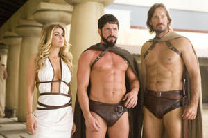 "Carmen Electra, Sean Maguire and Kevin Sorbo in ""Meet the Spartans."""