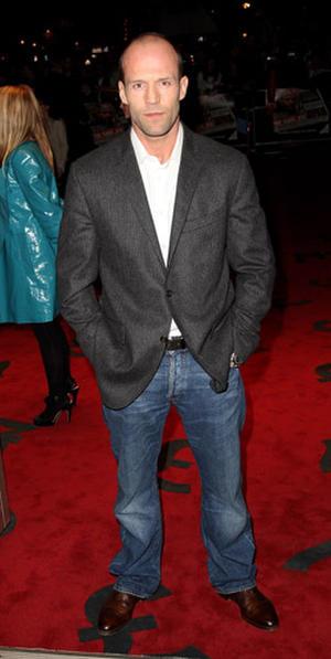 "Actor Jason Statham at the London premiere of ""The Bank Job."""