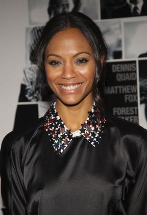 "Actress Zoe Saldana at the N.Y. premiere of ""Vantage Point."""