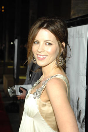 "Actress Kate Beckinsale at the L.A. premiere of ""Snow Angels."""