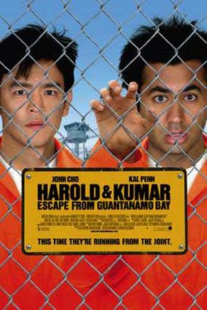 "Poster art for ""Harold & Kumar Escape from Guantanamo Bay."""