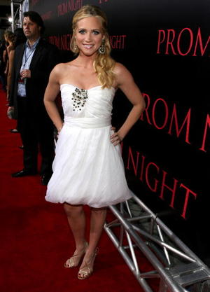 """Actress Brittany Snow at the L.A. premiere of """"Prom Night."""""""