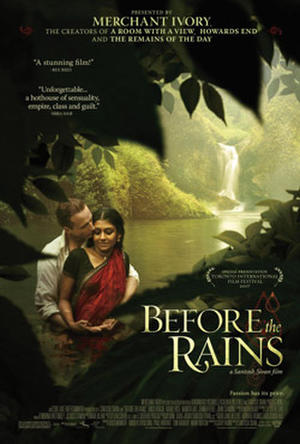 """Poster art for """"Before the Rains."""""""