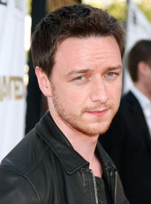 """James McAvoy at the California premiere of """"Wanted."""""""