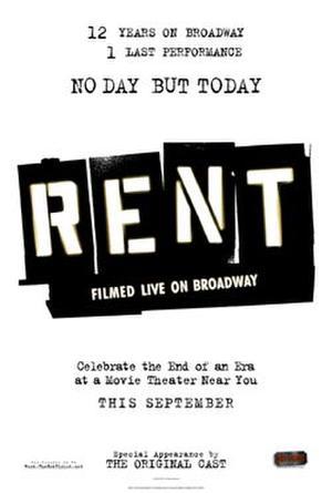 """Poster art for """"Rent: Filmed Live on Broadway."""""""
