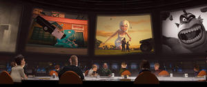 "A scene from ""Monsters vs. Aliens."""