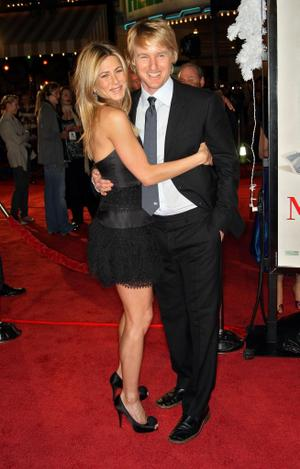 """Jennifer Aniston and Owen Wilson at the California premiere of """"Marley & Me."""""""