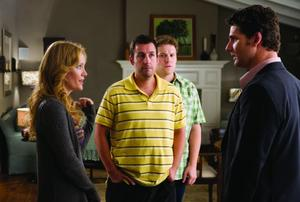 "Leslie Mann, Adam Sandler, Seth Rogen and Eric Bana in ""Funny People."""