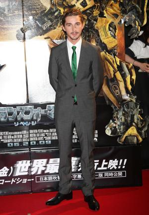 "Shia LaBeouf at the Japan premiere of ""Transformers: Revenge of the Fallen."""