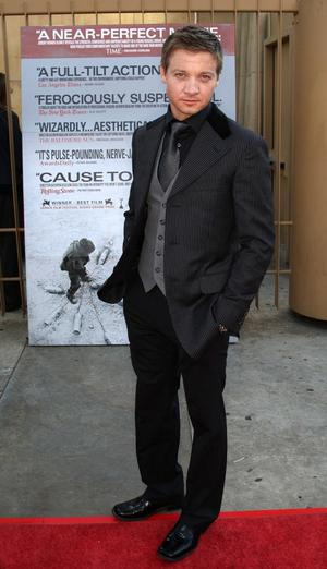 """Jeremy Renner at the California premiere of """"The Hurt Locker."""""""