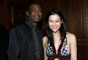 """Youssou N'dour and Director Elizabeth Chai Vasarhelyi at the after party of the New York premiere of """"Youssou N'dour: I Bring What I Love."""""""