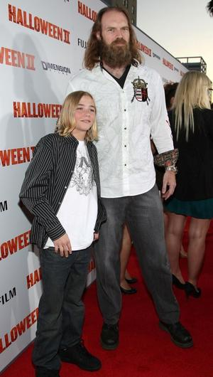 """Chase Wright Vanek and Tyler Mane at the California premiere of """"Halloween II."""""""